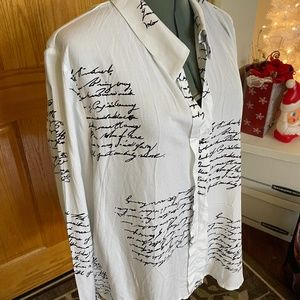Blouse with script